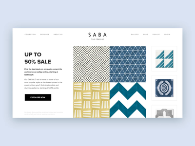 SABA:: Hero Exploration animated aftereffects hero animation uiux webdesign