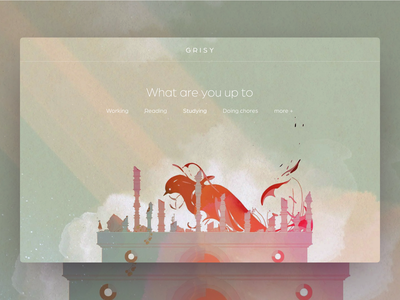 GRISY - Personalization Music Player interaction interactdesign aftereffects animated uiux webdesign music player animation ui