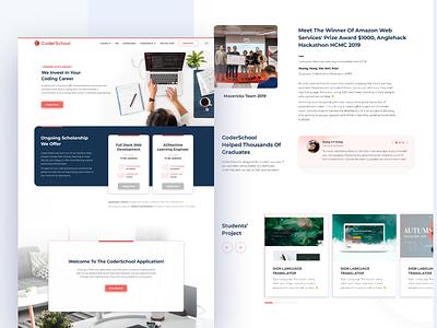 CODERSCHOOL::VN ui dailyui website minimalism developer coderschool