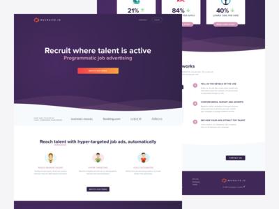 Recruitz.io website refresh 🚀