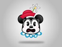 Vintage Minnie Emoji (Shock)