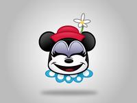 Vintage Minnie Emoji (Happy)
