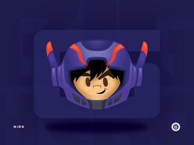Hiro Emoji graphic design big hero 6 vector flat illustrator emoji disney