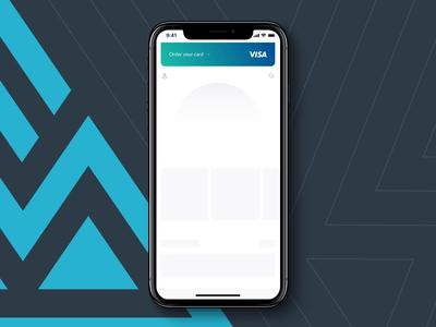 Tribal App - Dashboard loading placeholder animation design fintech flat interaction minimal mobile app product design placeholder ui ux white label