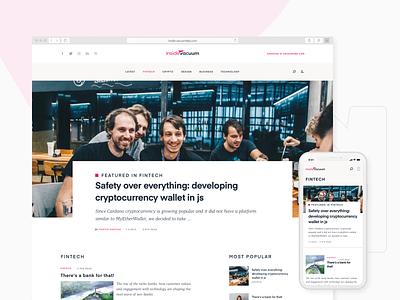 InsideVacuum - our company blog platform developer crypto design fintech ui ux mobile web blog