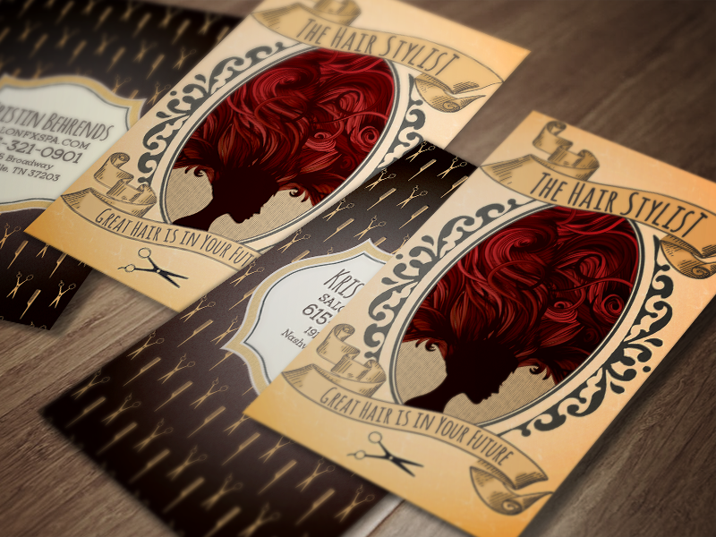Tarot/Fortune Hair Stylist Business Cards by Lindsey Behrends ...