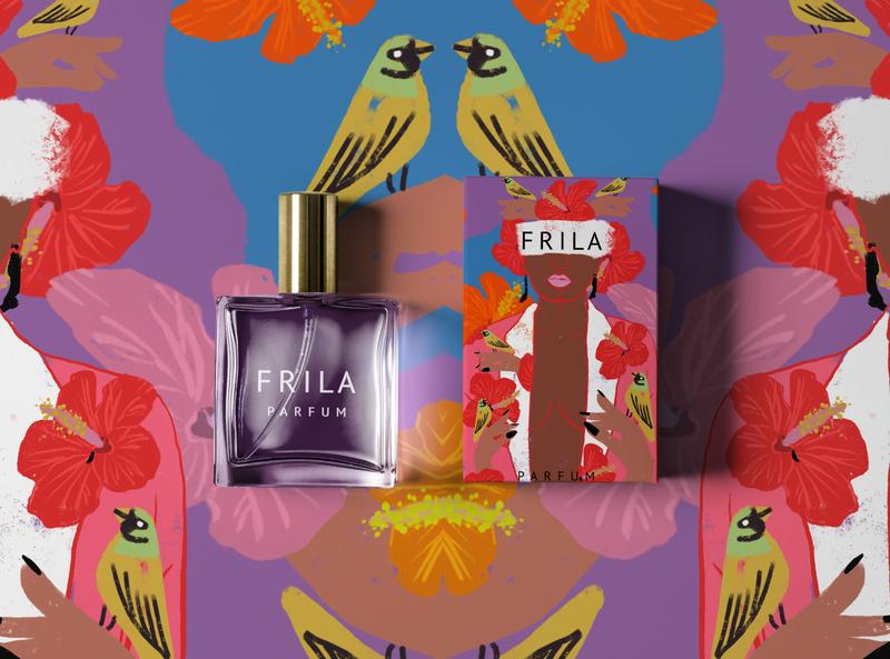 Frila Perfume Packaging + Branding