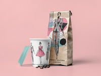 Three sisters coffee packaging and branding.