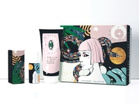 Serpentine cosmetic packaging
