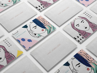 Luxury Jewellery Branding Identity cosmetic gold beauty typography minimal icon vector fashion letterpress business card packaging logo blue pink abstract concept art modern illustration branding jewellery