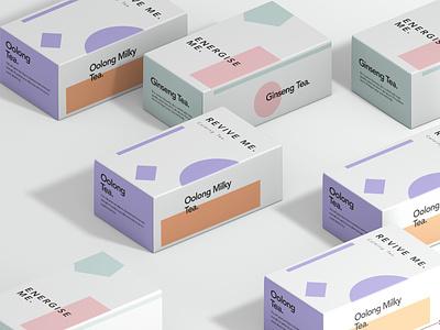 Moon Sip Tea Packaging beauty fashion vector logo pink minimal concept art letterpress design typography abstract illustration modern packaging branding