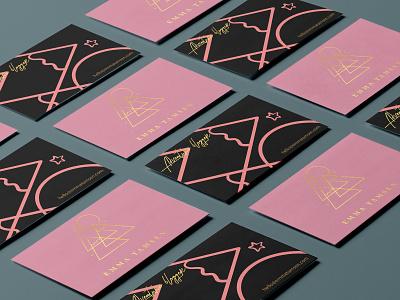 Personal Logo and Branding gold pink travel packaging business card letterpressed lettering typography abstract icon blogger letterpress vector design ui minimal logo illustration modern branding