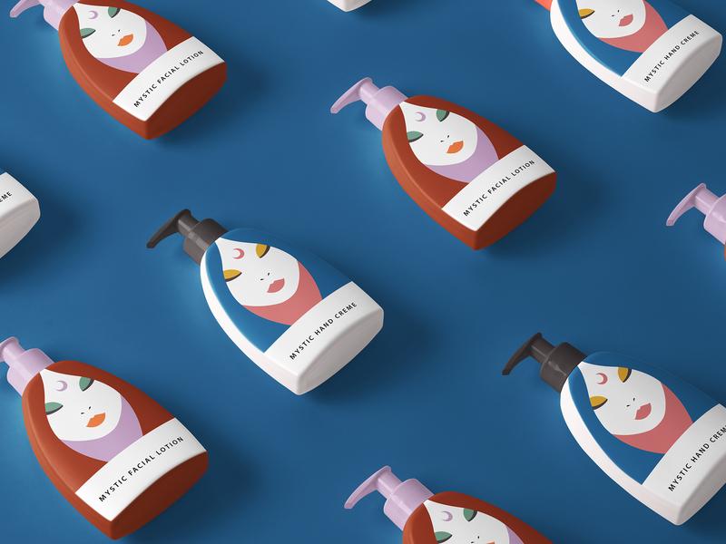 Mystic Lotion Packaging + Branding