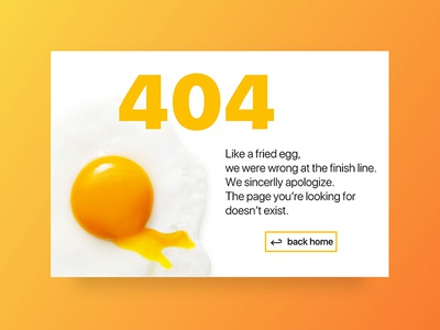 Daily UI - Day #8 404 page