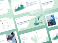 Chemical Medical App Landing Page
