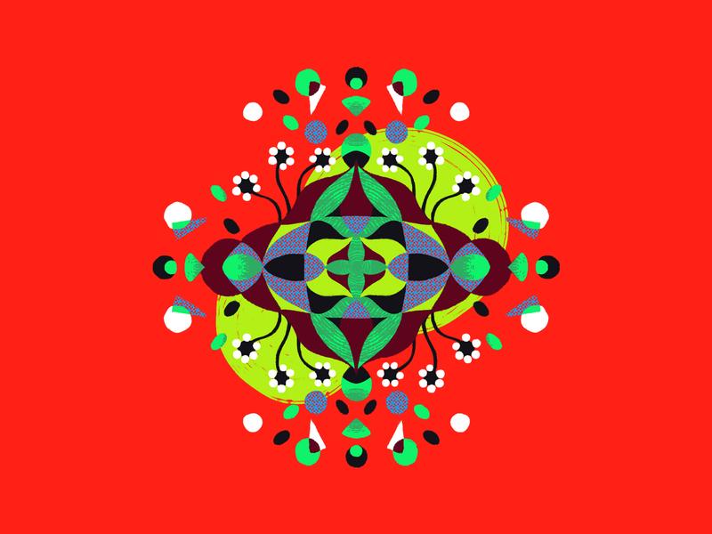 Flor do Sertão colourful grandmother homanage luiz gonzaga nordeste northeast sertao mandala design vector illustrator photoshop illustration