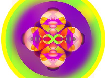 Bubbly Mandala color colour bubble mandala design abstract vector illustrator photoshop lettering illustration