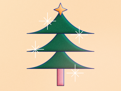 Christmas 2018   Frame Style vector minimalist bright star natal tree christmas motion design after effects illustrator animation photoshop illustration
