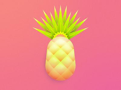 Pina icon personal design favicon pineapple pina illustrator photoshop illustration