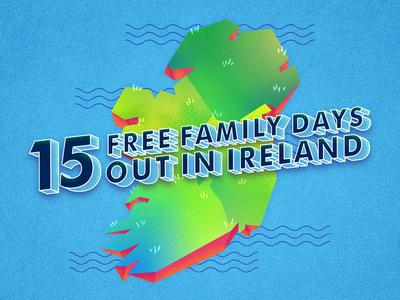 Ireland's Map for AIG ocean art direction design vector island esmerald map ireland eire photoshop illustrator lettering illustration