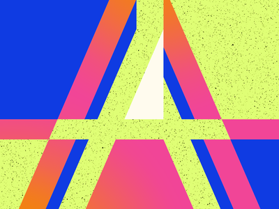 Type Fighter 2019   Letter A green pink blue diagonal a vector abstract illustrator letter photoshop illustration lettering