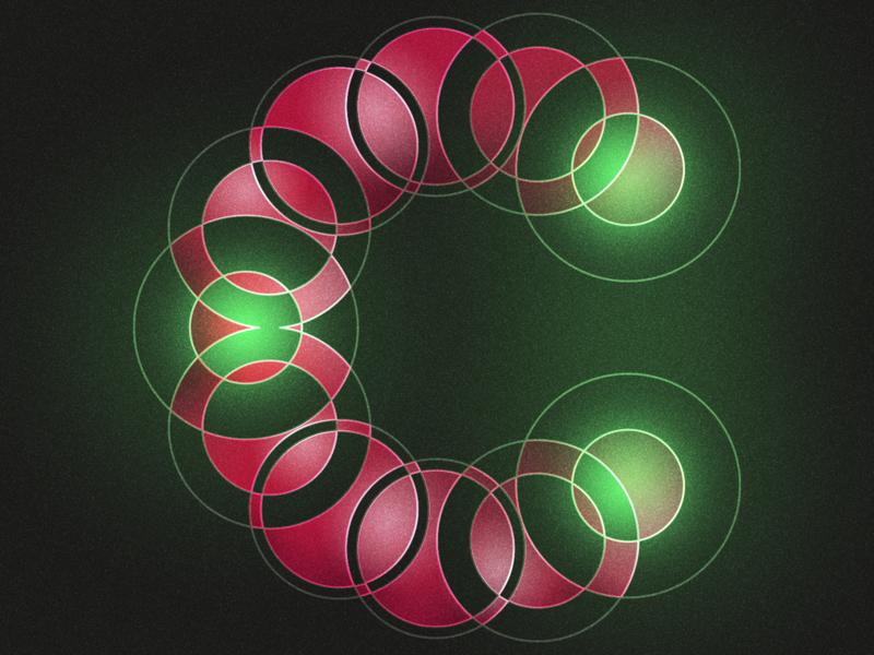 Type Fighter 2019   Letter C negative positive path circle light vector shape photoshop illustrator illustration type letter