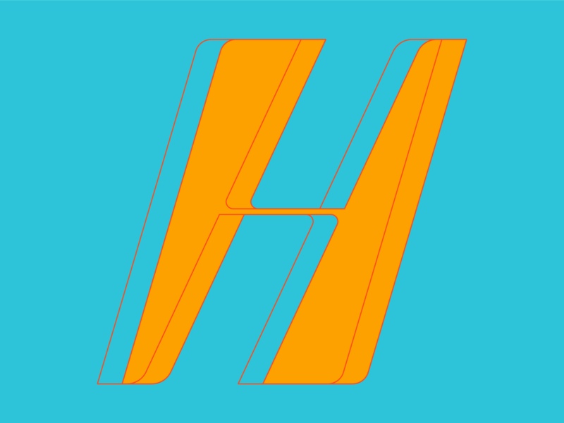 Type Fighter 2019   Letter H stretch shape type vector illustrator letter photoshop illustration lettering