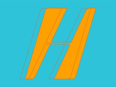 Type Fighter 2019 | Letter H stretch shape type vector illustrator letter photoshop illustration lettering