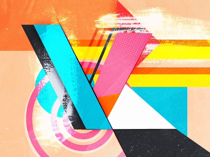 Type Fighter 2019   Letter K texture grain street typography design vector abstract illustrator letter photoshop illustration lettering