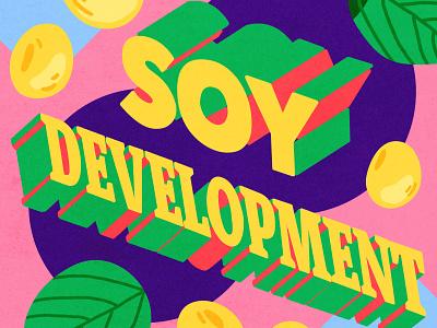 Londrina   Soy Development adobe design illustrator letter photoshop lettering illustration vegetarian bean research development soy londrina
