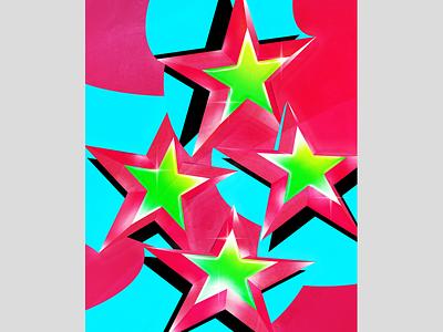 Londrina | Flag crux constellation four shape texture star 3d vector illustrator photoshop illustration