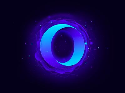 Opera fantasy logotype concept interactive circle dots futuristic fx branding browser opera concept logotype