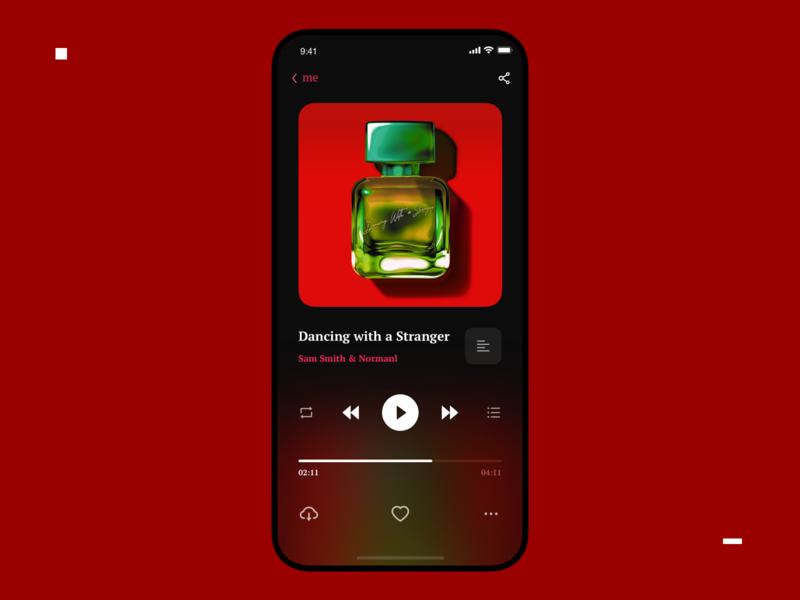 music app player musicapp music iphone color clean mobile appdesign ui design