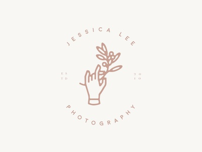 Jessica Lee Photography illustration floral typography minimal design logo