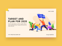 Target and  plan for 2020