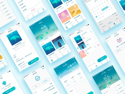 Weather insurance app insurance ui illustrations card mall sketch weather