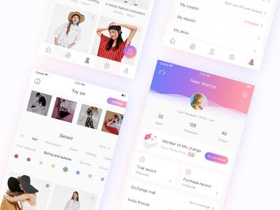 mix change_UI blue purple change gradual personal brands alerts clothes ui