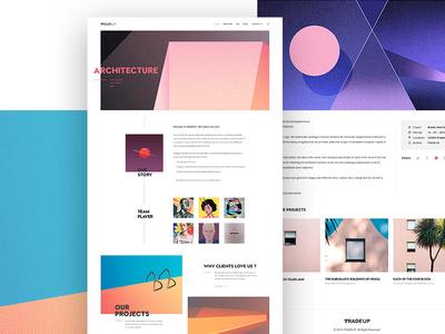web design web clean morden color architecture