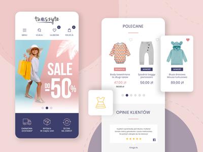 TuSzyte.pl - online store webdesign