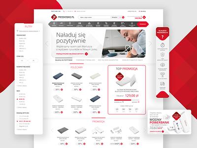 Przenosne - online store website website design webdesign web design