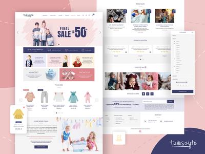 TuSzyte - online store webdesign