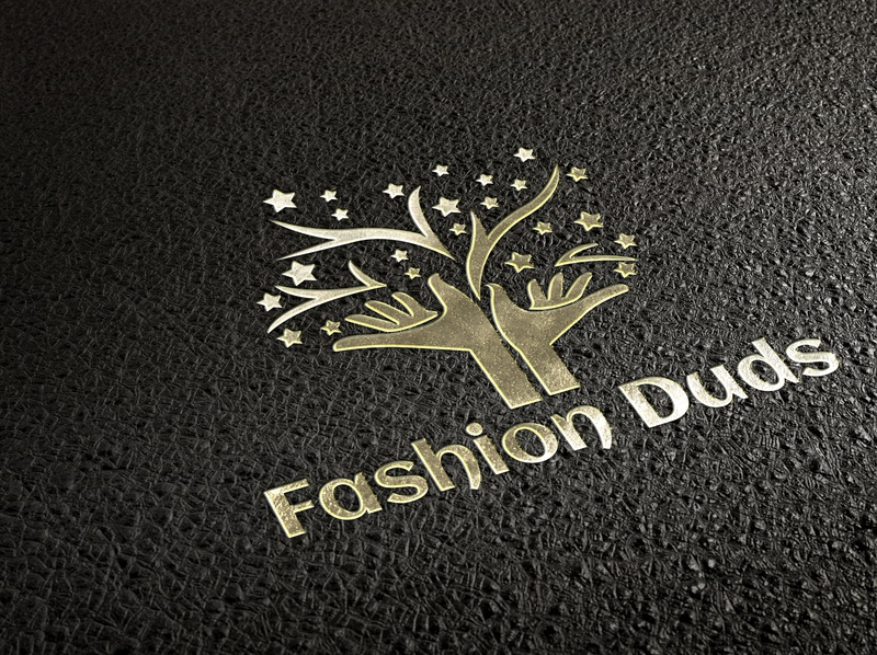 Fashion Duds android app ios app design typography vector illustration logo branding