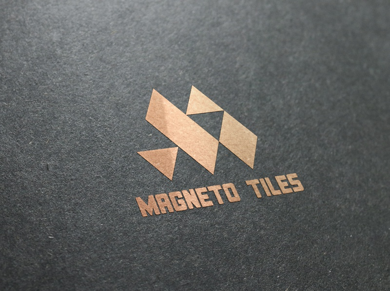 Magneto Tiles typography icon ux logo branding design tiles