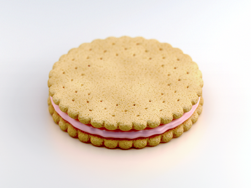 Cookie cookie tasty dribbble pink white 3d