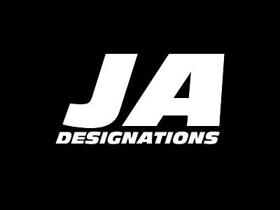 JA: Designations logo design typography vector logo branding minimal bangladesh illustration dhaka ja