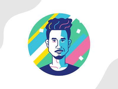 Avatar on Circle illustrator icon dhaka illustration jadesignations ja colorful minimal avatar design avatar illustrations