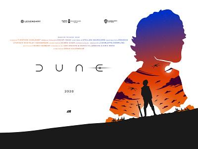 Dune bangladesh dhaka ja film poster film dune movie dune movie illustrations logo typography flat vector branding minimal illustration poster design poster design