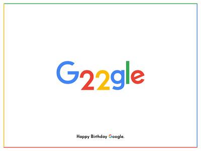 Google's 22 Birthday! bangladesh dhaka ja icon typography logo branding minimal illustration google 22th birthday google doodle google