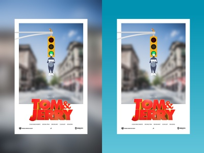 Tom and Jerry: Movie Poster bangladesh dhaka typography design vector branding ja animation minimal illustration poster design poster tomandjerry