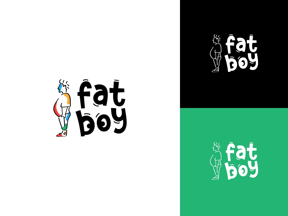 The Fat Boy bangladesh dhaka ja icon design vector typography flat minimal branding logo